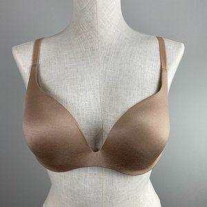 Victoria's Secret Incredible Push-up Bra Underwire Nude Beige Womens Size 36 C